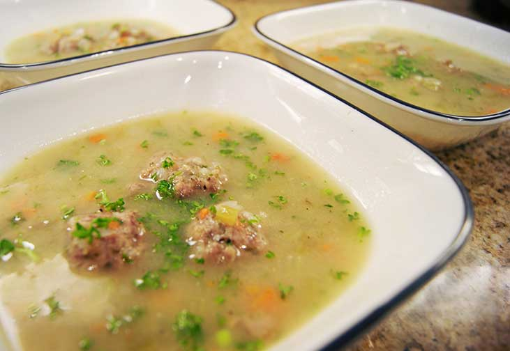 Bulgarian Meatball Soup
