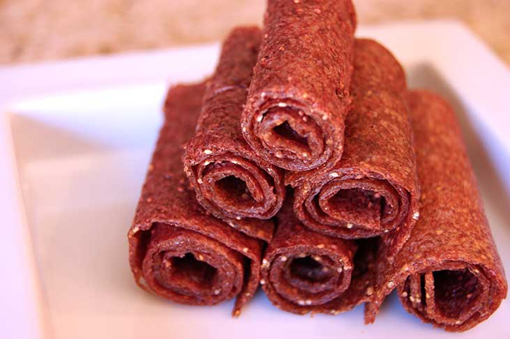 Healthy Fruit Leather Snacks