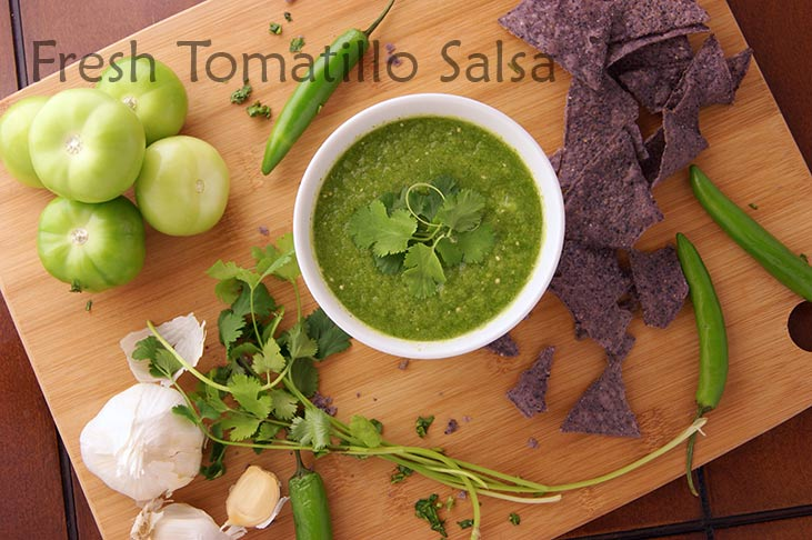 Delicious Fresh Tomatillo Salsa