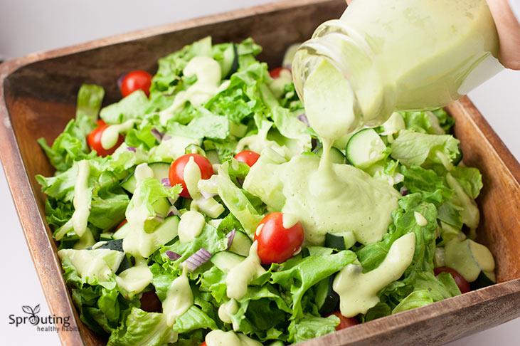 Creamy Lemon Avocado Salad Dressing