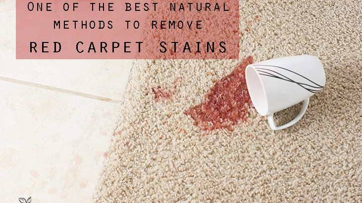 One of the best natural ways to remove red carpet stains