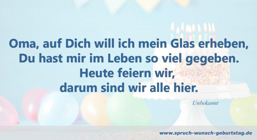 Geburtstagswnsche Und Sprche Fr Oma Zum Geburtstag