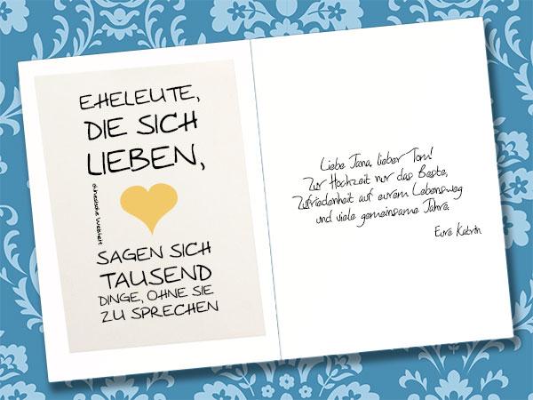 Hochzeitskarte beschriften und gestalten  Tipps und
