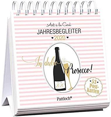 dubio Prosecco 2020 - Postkartenkalender 2020: Wochenkalender zum Aufstellen, Spiralbindung, m. 53 Postkarten zum Heraustrennen, Verschicken & Verschenken, m. Goldfoolienveredelung,