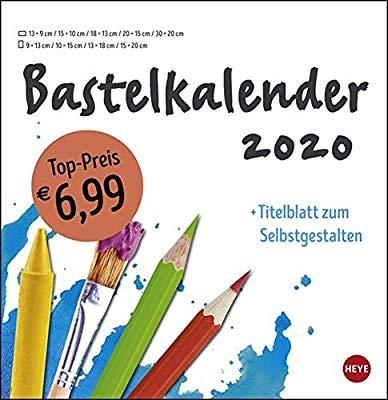Bastelkalender weiß groß 2020