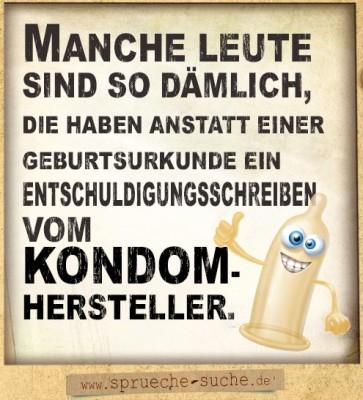 Coole Sprche  Entschuldigungsschreiben vom Kondomhersteller