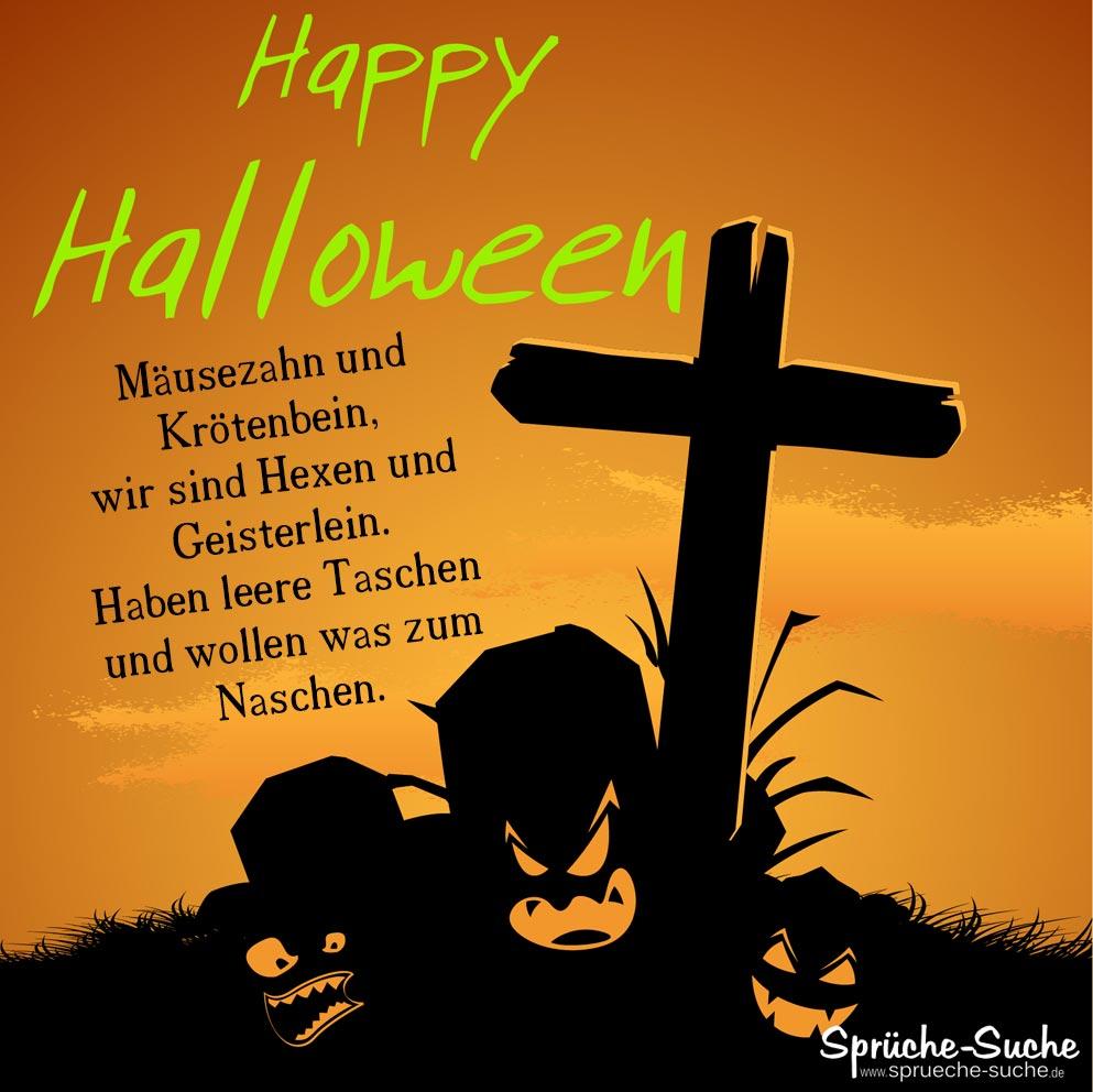 Halloween Sprche  Musezahn und Krtenbein  SprcheSuche