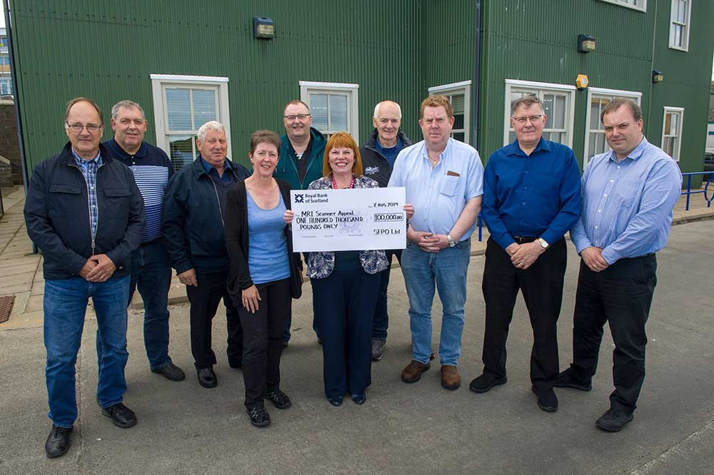 Pelagic fishermen to donate £100,000 to MRI Scanner Appeal