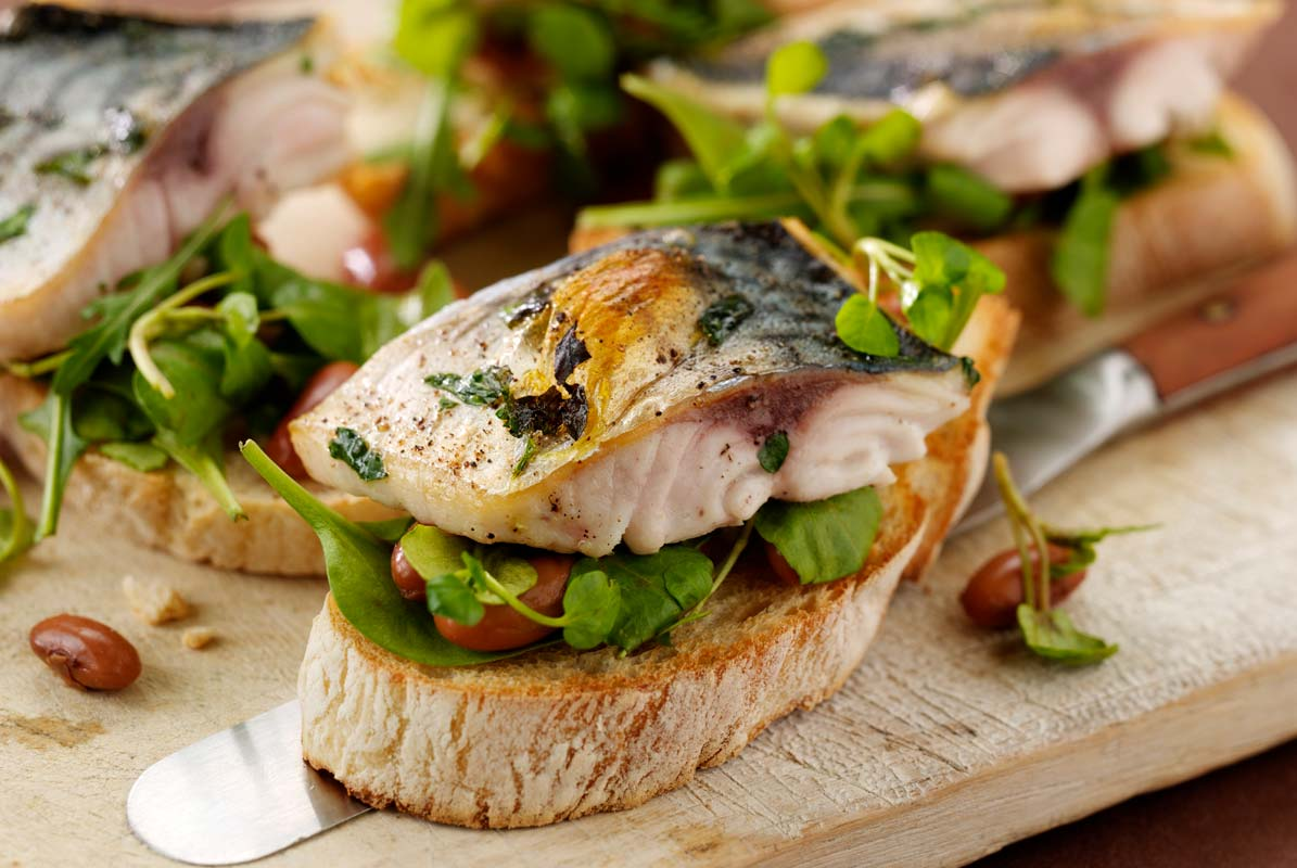 Grilled Mackerel Bruschetta
