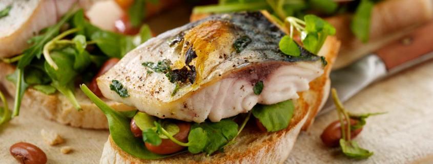 Grilled Mackerel Bruschetta