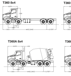 powered by a cummins isle5 engine up to 400 hp the t360 and t360a are available in 6 4 8 4 and 10 4 configurations and are available with a range of  [ 1764 x 768 Pixel ]