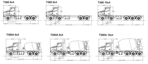 small resolution of powered by a cummins isle5 engine up to 400 hp the t360 and t360a are available in 6 4 8 4 and 10 4 configurations and are available with a range of