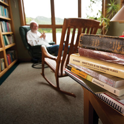 Eugene Peterson in study
