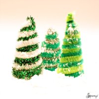 Pipe Cleaner Christmas Trees.Pipe Cleaner Christmas Wreath 1