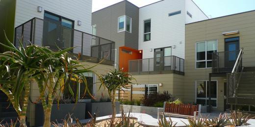 modern condo housing complex