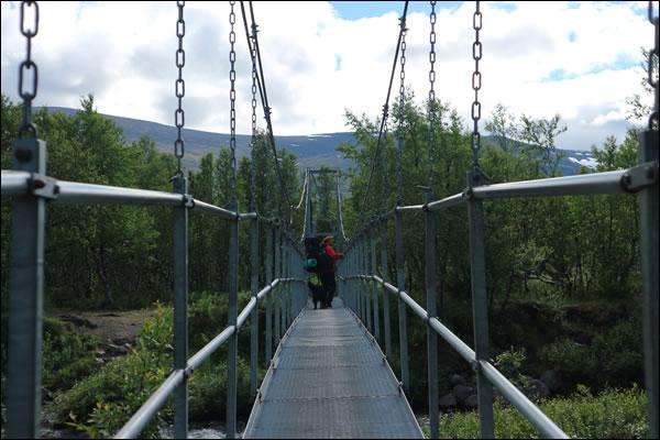 Mehrere Brücken auf unserem Weg
