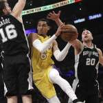 Spurs' Depth Exposed in Road Loss to Lakers