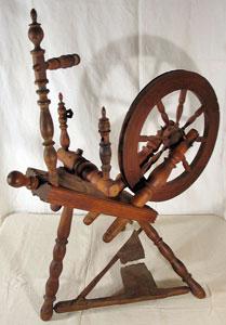 "Flax wheel signed ""IA.K 1776"""