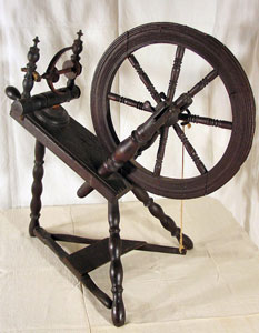 "Flax wheel signed ""IH.K 1791"""