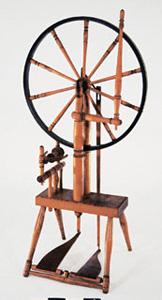 """""""A. WEBSTER"""" single wheel with double treadle"""