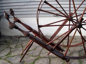 Two Brantford-style wheels