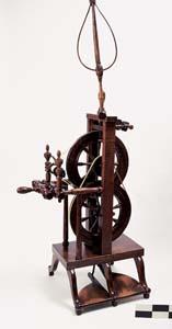 "Wheel marked ""JOHN BURLEY, WARRANTED, PENNA."""