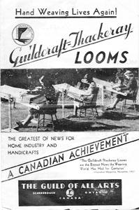 Cover of Guildcraft-Thackeray Looms Brochure, c. 1938