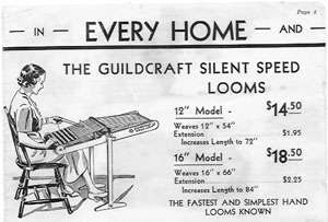 Silent speed looms from brochure. (Silent Speed Looms, 1937)
