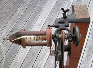 Detail of bobbin/flyer unit