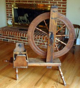 "Spooling wheel marked ""H. Z."""