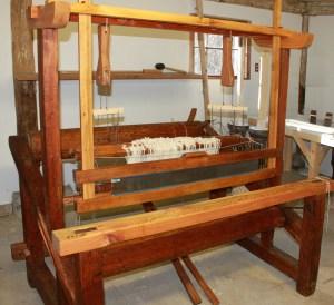 Restored French Canadian loom belonging to Carlisle [MA] Historical Society.