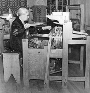 Margaret Bergman at Penland School 1939. Courtesy of Trebon Collection.