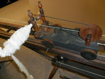 Detail of trolley that holds the spindle mechanism