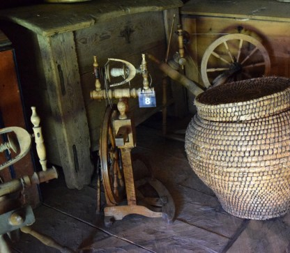 """A püstvokk (which means """"upright spinning wheel"""" in Estonian) in the Open Air Museum in Tallin."""
