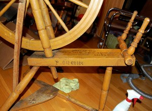 Wheel made by Pantaléon, son of Jérémie Ouellet.