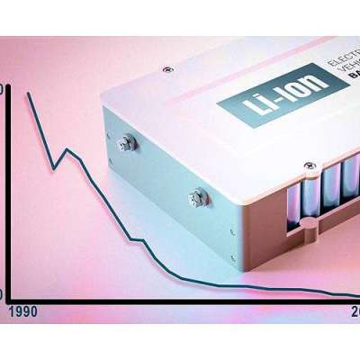 Study reveals plunge in lithium-ion battery costs