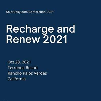 Call for Speakers and White Paper for Recharge and Renew 2021