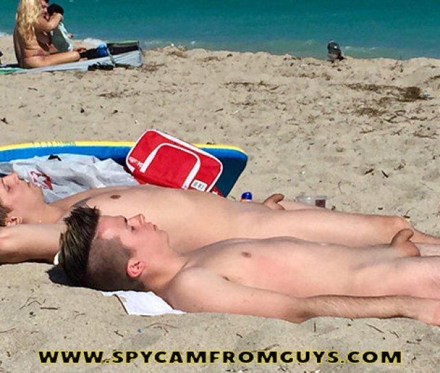 Nudist Guys Caught At The Beach