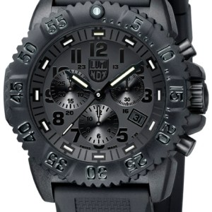 Luminox Black Dial and Face, 3081BO Navy Seal Dive Chronograph-0