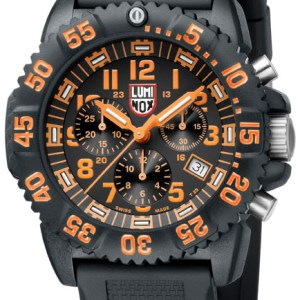 Luminox Orange Dial, 3089 Men's Dive Chronograph Watch-0