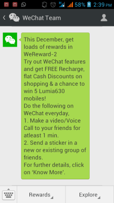 Wechat We Reward 2