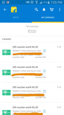 flipkart appshare earning proof