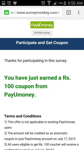 payumoney new user offer