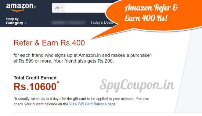 amazon refer and earn 400 rs