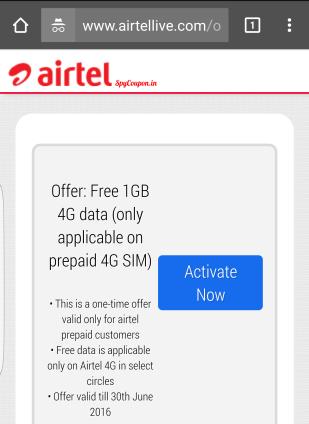 airtel free 4g trick