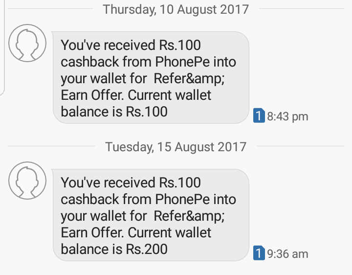 phonepe referral proof