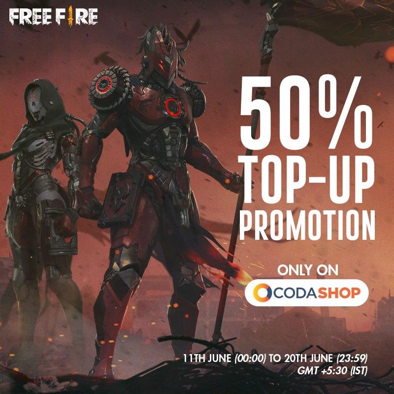 Garena Free Fire Redeem Code 2019 : Get 50% Free Diamonds | SpyCoupon