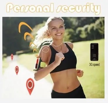 tracker with sos button personal protection