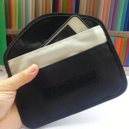Anti tracking smartphone bag stop gps trackers