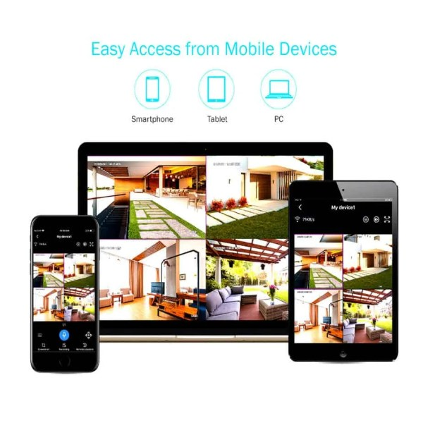 wifi NVR connectivity for all mobile devices